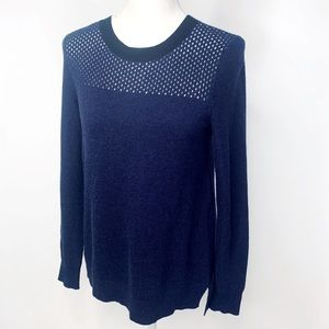 REBECCA TAYLOR Cashmere Sweater Small blue black